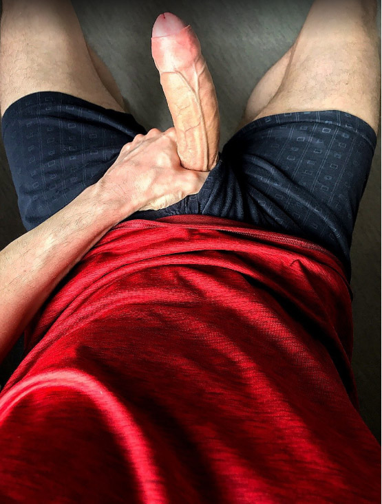 Veiny cock with tight foreskin